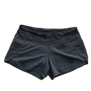 "Lululemon Speed Up 4"" short. Black. Size 8."